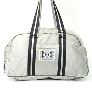 Auth Chanel Travel Sports Bag Silver #1462C18